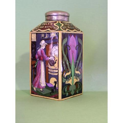 A Foley Intasio tea canister,