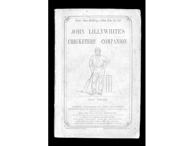 LILLYWHITE(John), CRICKETERS' COMPANION, (21)