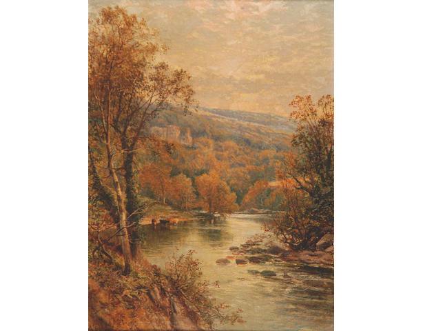 Alfred Augustus Glendening (fl.1861-1903) 'River landscape