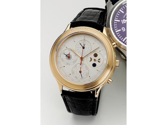 Audemars Piguet. A fine 18ct pink gold automatic perpetual calendar astronomic wristwatch Quantieme Perpetuel, 1990s 41mm.