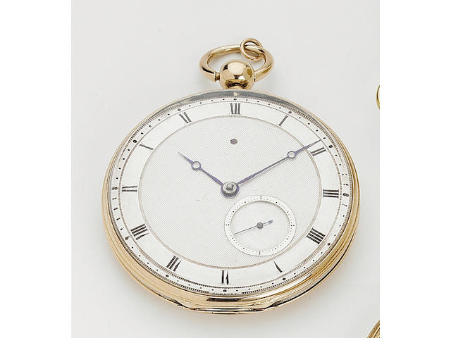 An early 19th century French gold and silver lever watch Breguet et Fils, No 4064 51mm