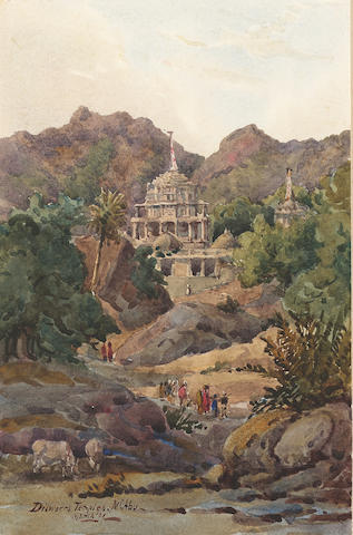 Major-General Sir Matthew William Edward Gosset F.R.G.S. (British, 1839-1909) The Dilwara temples, Mount Abu, Rajahstan, India 14 x 21 cm. (5 1/2 x 8 1/4 in.) together with views of: Gwailor; Ulwar; Chitor; Lucknow; Nantaizah; Goa, and four other Indian views, unframed, (11).