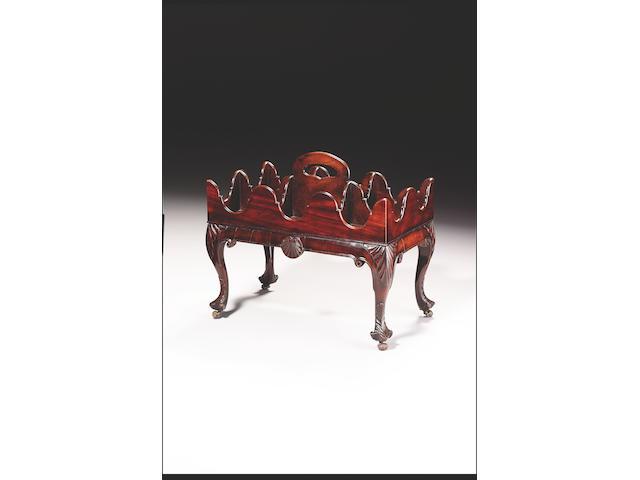 A George III Irish mahogany Bottle Carrier,