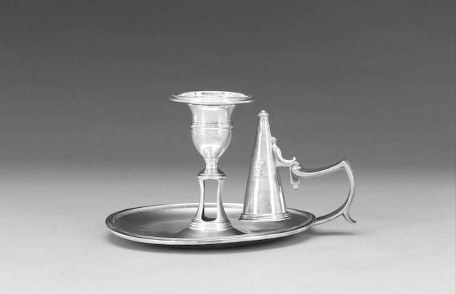 A George III silver chamberstick by Samuel (II) & George Whitford, London 1806,