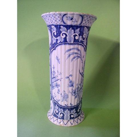 A Dutch Delft vase,