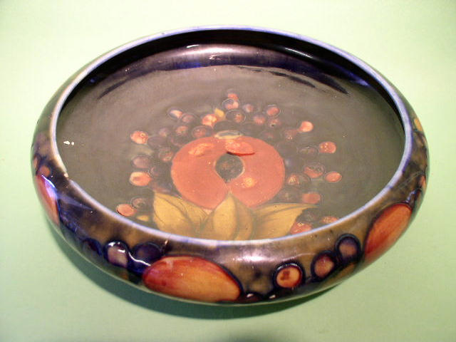 A Moorcroft 'Pomegranate' fruit bowl,