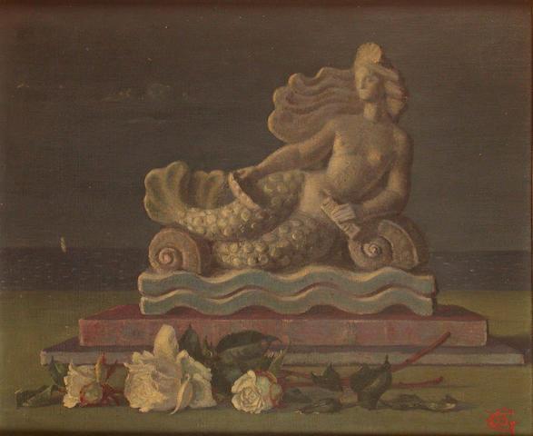 Lady Beatrice Glenavy (British, 1883-1970) Mermaid 36 x 43.5 cm.