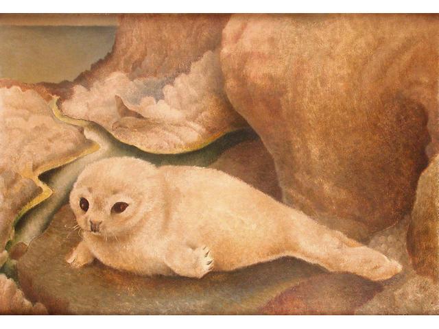 Billie Waters (British, 1896-1979) Seal Pup 35.5 x 51 cm.