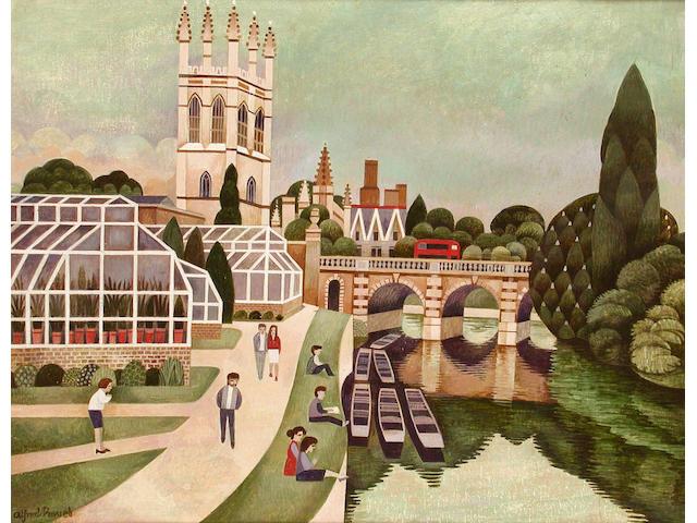 Alfred Daniels (British, b.1924) Magdalen College, Oxford, 40.5 x 51.5cm