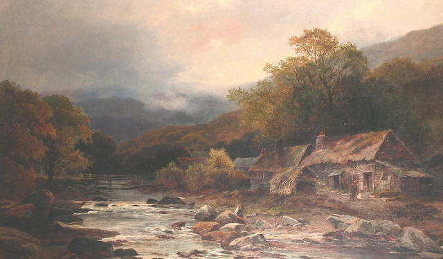 Leopald Rivers (British, 1852-1905) Landscape believed to be Dolgelly, North Wales,  74 x 125.5cm