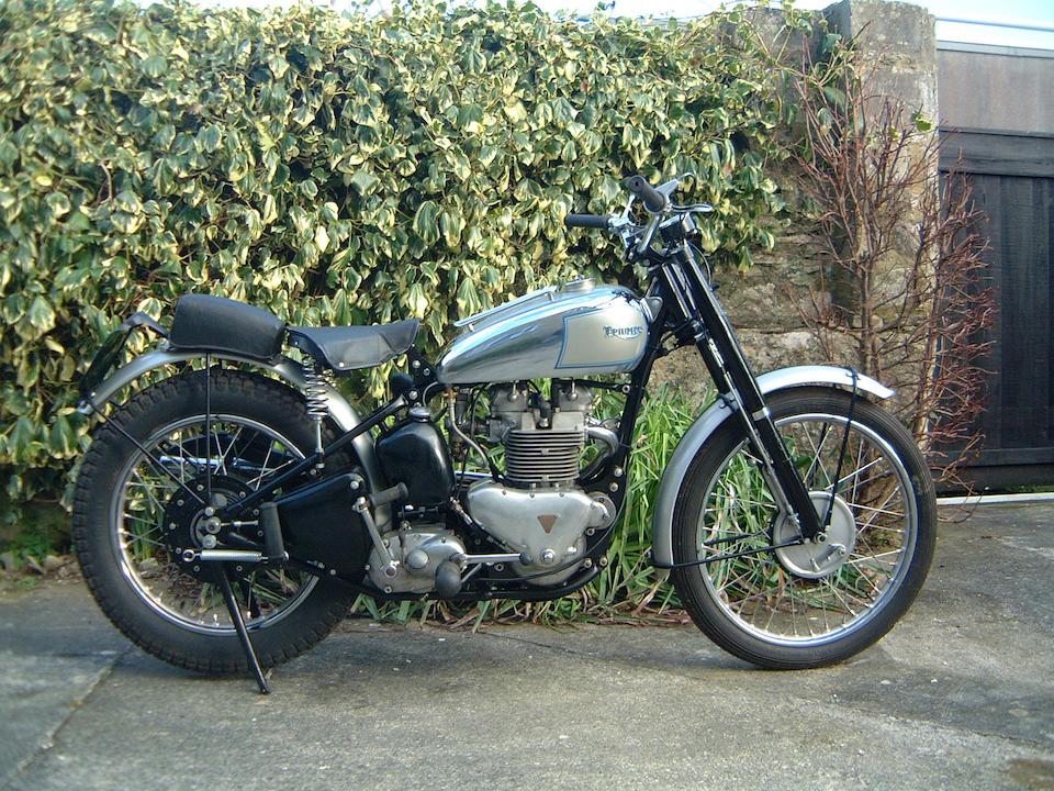 The ex-Triumph Works/Bob Manns,1949 Triumph 498cc Trophy  Chassis no. TC11001T Engine no. TR5 106001