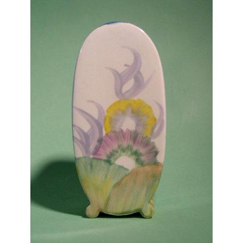 A Clarice Cliff 'Aurea' Bon Jour sugar sifter, 12.5cm, printed Bizarre mark.