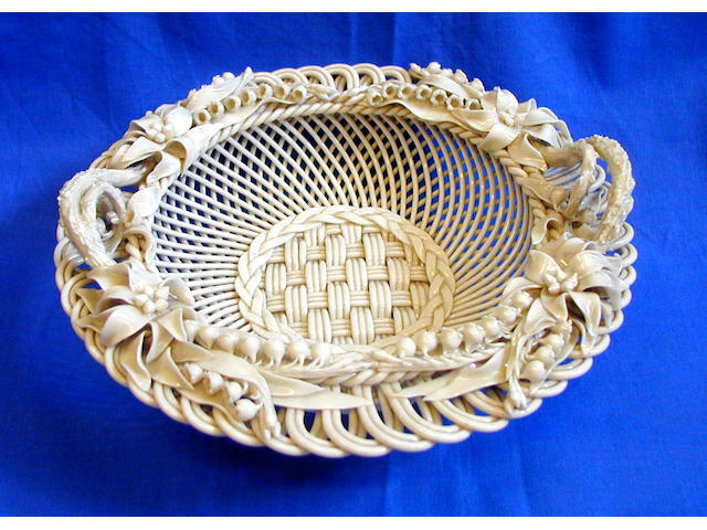 A Belleek Lily basket,