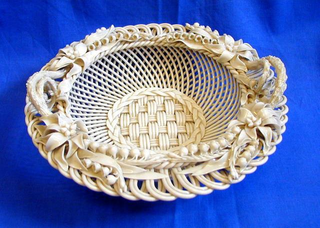 A Belleek Lily basket,
