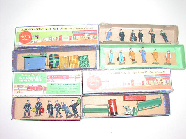 Hornby Series Railway Accessories and Staff (lot)
