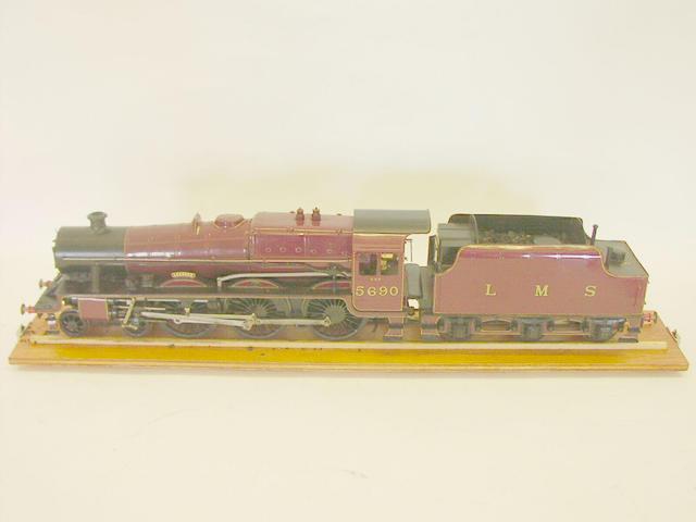 A 2in gauge live steam locomotive and tender 'Leander'