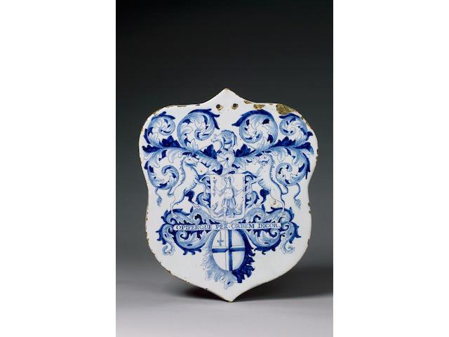 A Fine London Delft Pill Slab circa 1700