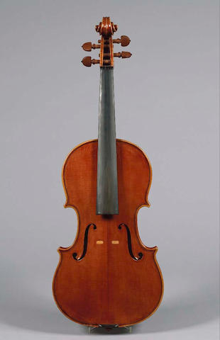 A good Italian Violin by Giuseppe Lucci Roma  1987 branded internally and on lower rib