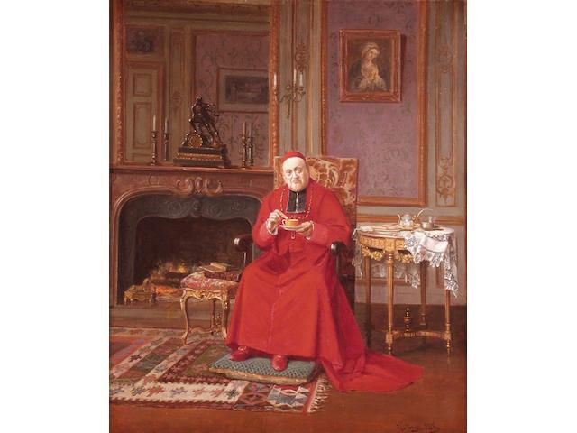 Victor Marais-Milton (French 1879-1968) Au regime 46 x 38 cm.