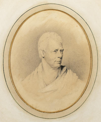 Attributed to W. A. Thompson , Sir Walter Scott (1771-1832), wearing Classical robes