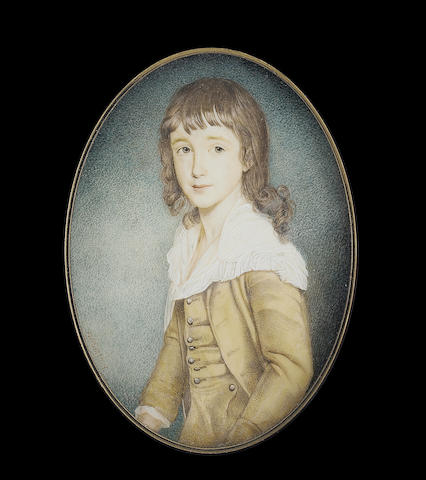 W(illiam) A. Smith, A young boy, wearing cream suit and large frilled white collar