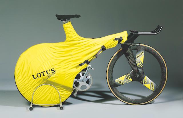 Sean Wallace's Lotus Sport 'Olympic' pursuit bike, 1992,