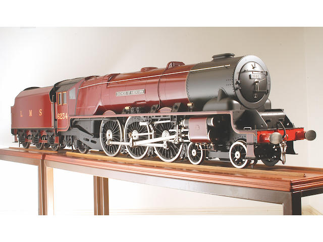 "A similar exhibition quality 7 1/4"" gauge model of the William Stanier London Midland and Scottish Railway 'Pacific' 4-6-2 locomotive and tender No. 6234 'Duchess of Abercorn' built by John Adams,"