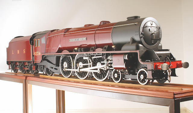 """A similar exhibition quality 7 1/4"""" gauge model of the William Stanier London Midland and Scottish Railway 'Pacific' 4-6-2 locomotive and tender No. 6234 'Duchess of Abercorn' built by John Adams,"""