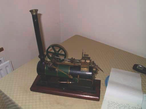 "A very finely finished model of a single-cylinder MR 'overtype' stationery steam set, circa 1910,  18 1/4"" x 16"" (463mm x 408mm)"