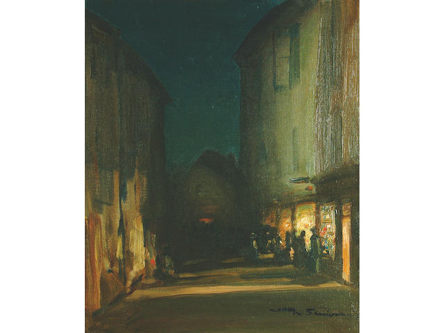 "Mark Senior N.P.S. (1862-1927) ""Ludlow at Night"" 58.5 x 49cm"