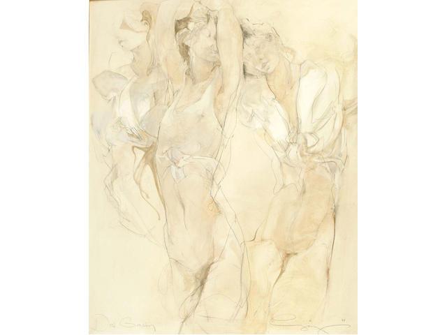 Jurgen Gorg (German, 1951) Drew Grazian 100 x 80 cm.
