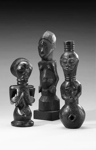 Congo figure, Luba-Hemba figure and Dengese (Kuba) figure (3)
