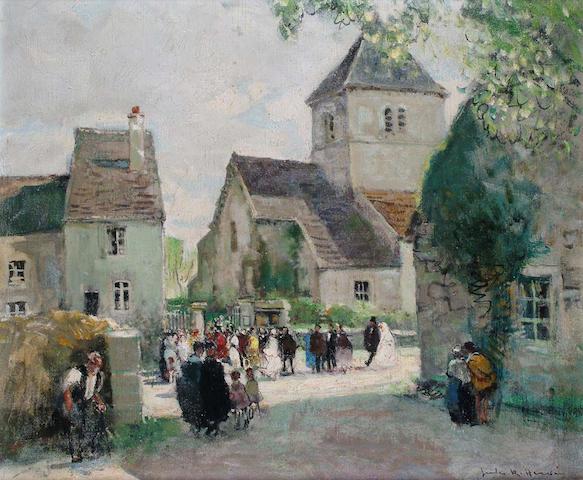 Jules Herve (French, 1887-1981) The Village Wedding 44 x53 cm