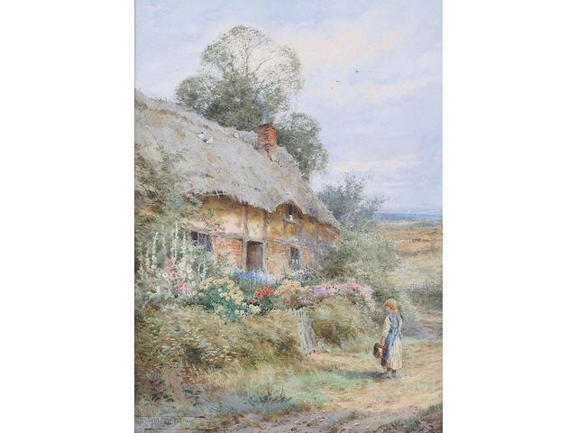 Henry John Sylvester Stannard (British, 1870-1951) Home at last 35.4 x 24.8cm
