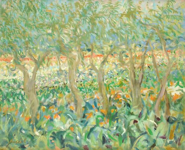 André Bicât (British, 1909-1996) Summer Treporti 70.5 x 86.5 cm.
