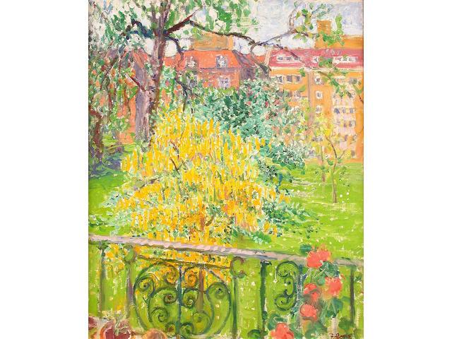 Frederick Gore R.A. (British, b.1913) Laburnham, Elm Park Gardens 60.5 x 50.5 cm.