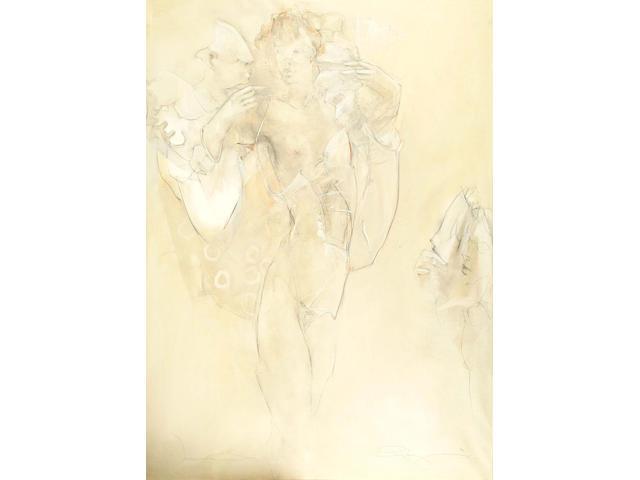 Jurgen Gorg (German, b.1951) Venezians 140 x 100 cm.