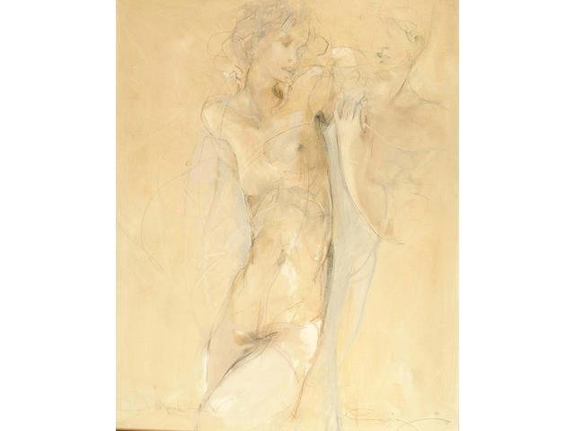 Jurgen Gorg (German, b.1951) Der Kavalieu 110 x 80 cm.