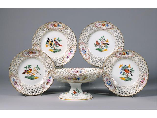 A Good Meissen Dessert Service circa 1830-40