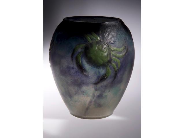 G. Argy-Rousseau, A Pate de Verre vase, 14.5cm high, signed