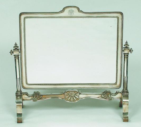 A George V swing dressing-table mirror, by Richard Burbridge, London 1913,