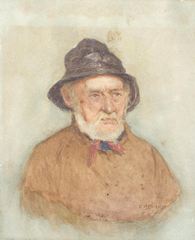 Frederick McNamara Evans (British, 1859-1929) A Cornish Fisherman 28.5 x 23.2 cm, unframed.