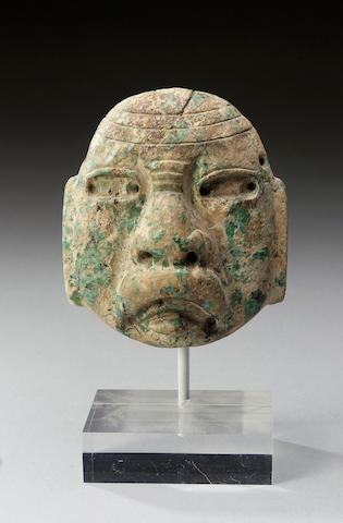 An Olmec Greenstone Maskette