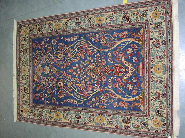 A Kashan prayer rug, Central Persia, 220cm x 156cm