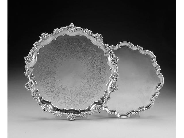 A Victorian silver salver by J. & J. Angell, London 1846,