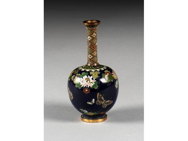 A cloisonné vase,
