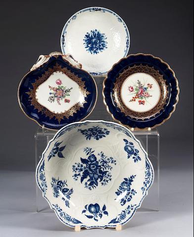 A Worcester 'Pinecone' Junket Dish, circa 1775,