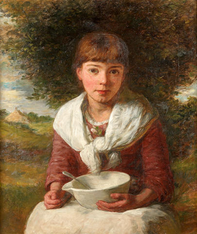 Edward Opie (British 1810-1894) Content 65.5 x 56 cm. (25 3/4 x 22 in.)