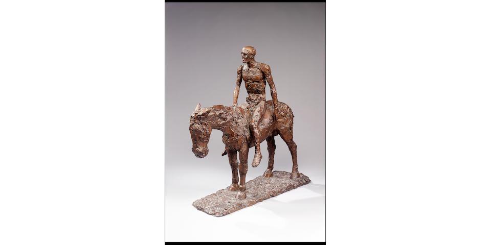 Dame Elisabeth Frink R.A. (1930-1993) Resting Horseman 82.5 cm. (32 1/2 in.) high