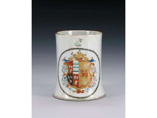 An armorial mug,